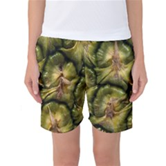 Pineapple Fruit Close Up Macro Women s Basketball Shorts