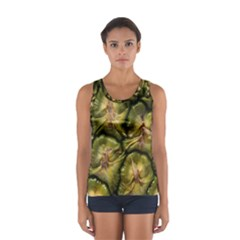 Pineapple Fruit Close Up Macro Women s Sport Tank Top