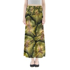 Pineapple Fruit Close Up Macro Maxi Skirts