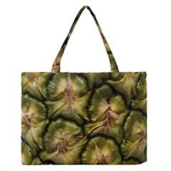 Pineapple Fruit Close Up Macro Medium Zipper Tote Bag