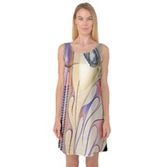 Pin Stripe Car Automobile Vehicle Sleeveless Satin Nightdress
