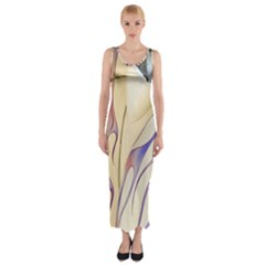 Pin Stripe Car Automobile Vehicle Fitted Maxi Dress