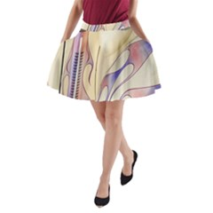 Pin Stripe Car Automobile Vehicle A-Line Pocket Skirt