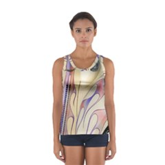 Pin Stripe Car Automobile Vehicle Women s Sport Tank Top