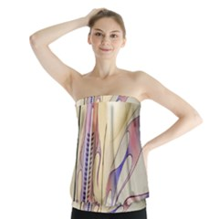 Pin Stripe Car Automobile Vehicle Strapless Top