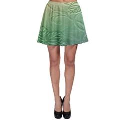 Plants Nature Botanical Botany Skater Skirt