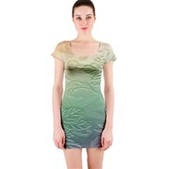 Plants Nature Botanical Botany Short Sleeve Bodycon Dress