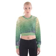 Plants Nature Botanical Botany Women s Cropped Sweatshirt