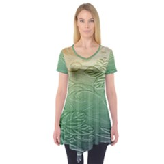 Plants Nature Botanical Botany Short Sleeve Tunic