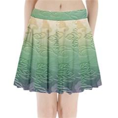 Plants Nature Botanical Botany Pleated Mini Skirt