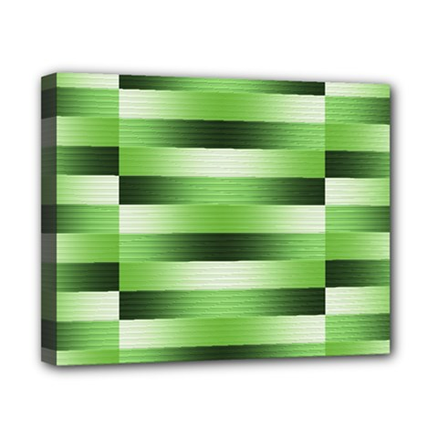 Pinstripes Green Shapes Shades Canvas 10  x 8
