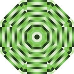 Pinstripes Green Shapes Shades Hook Handle Umbrellas (small)