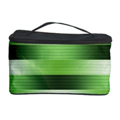 Pinstripes Green Shapes Shades Cosmetic Storage Case