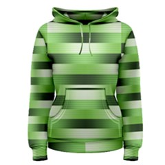 Pinstripes Green Shapes Shades Women s Pullover Hoodie