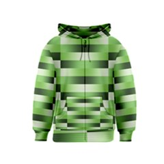 Pinstripes Green Shapes Shades Kids  Zipper Hoodie