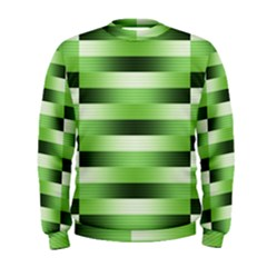 Pinstripes Green Shapes Shades Men s Sweatshirt