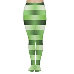 Pinstripes Green Shapes Shades Women s Tights