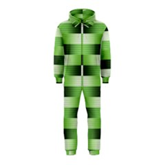 Pinstripes Green Shapes Shades Hooded Jumpsuit (kids)
