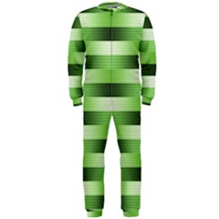 Pinstripes Green Shapes Shades OnePiece Jumpsuit (Men)
