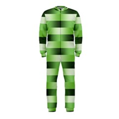 Pinstripes Green Shapes Shades Onepiece Jumpsuit (kids)