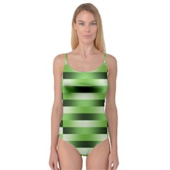 Pinstripes Green Shapes Shades Camisole Leotard