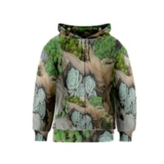 Plant Succulent Plants Flower Wood Kids  Zipper Hoodie