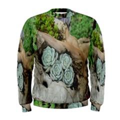 Plant Succulent Plants Flower Wood Men s Sweatshirt