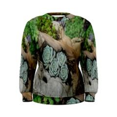 Plant Succulent Plants Flower Wood Women s Sweatshirt