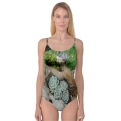Plant Succulent Plants Flower Wood Camisole Leotard