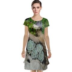 Plant Succulent Plants Flower Wood Cap Sleeve Nightdress
