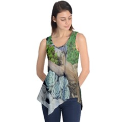 Plant Succulent Plants Flower Wood Sleeveless Tunic