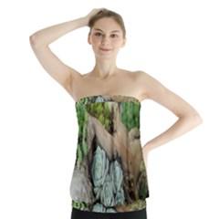 Plant Succulent Plants Flower Wood Strapless Top