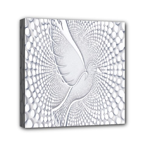 Points Circle Dove Harmony Pattern Mini Canvas 6  x 6
