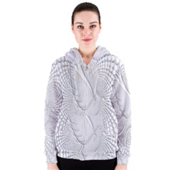 Points Circle Dove Harmony Pattern Women s Zipper Hoodie