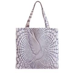 Points Circle Dove Harmony Pattern Zipper Grocery Tote Bag