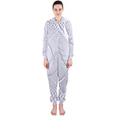Points Circle Dove Harmony Pattern Hooded Jumpsuit (ladies)