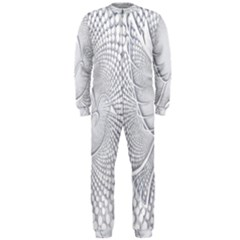 Points Circle Dove Harmony Pattern OnePiece Jumpsuit (Men)