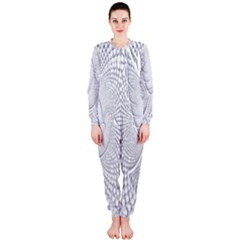 Points Circle Dove Harmony Pattern OnePiece Jumpsuit (Ladies)