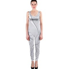 Points Circle Dove Harmony Pattern OnePiece Catsuit
