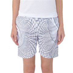 Points Circle Dove Harmony Pattern Women s Basketball Shorts