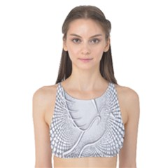 Points Circle Dove Harmony Pattern Tank Bikini Top
