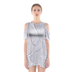 Points Circle Dove Harmony Pattern Shoulder Cutout One Piece