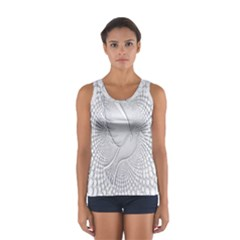 Points Circle Dove Harmony Pattern Women s Sport Tank Top