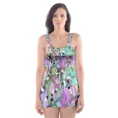 Presents Gifts Christmas Box Skater Dress Swimsuit