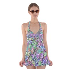 Presents Gifts Christmas Box Halter Swimsuit Dress