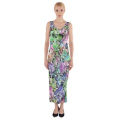 Presents Gifts Christmas Box Fitted Maxi Dress