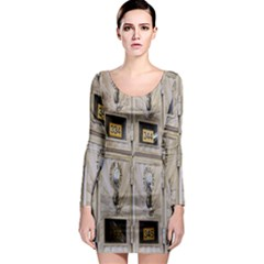 Post Office Old Vintage Building Long Sleeve Bodycon Dress