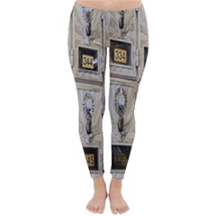 Post Office Old Vintage Building Classic Winter Leggings