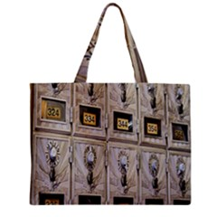 Post Office Old Vintage Building Zipper Mini Tote Bag
