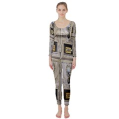 Post Office Old Vintage Building Long Sleeve Catsuit